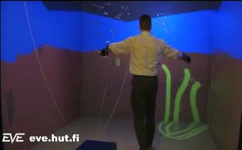 Swimming in a virtual aquarium
