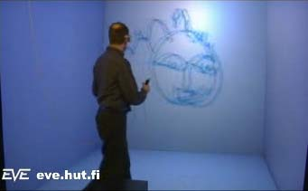 Virtual sculptures - drawing in the air